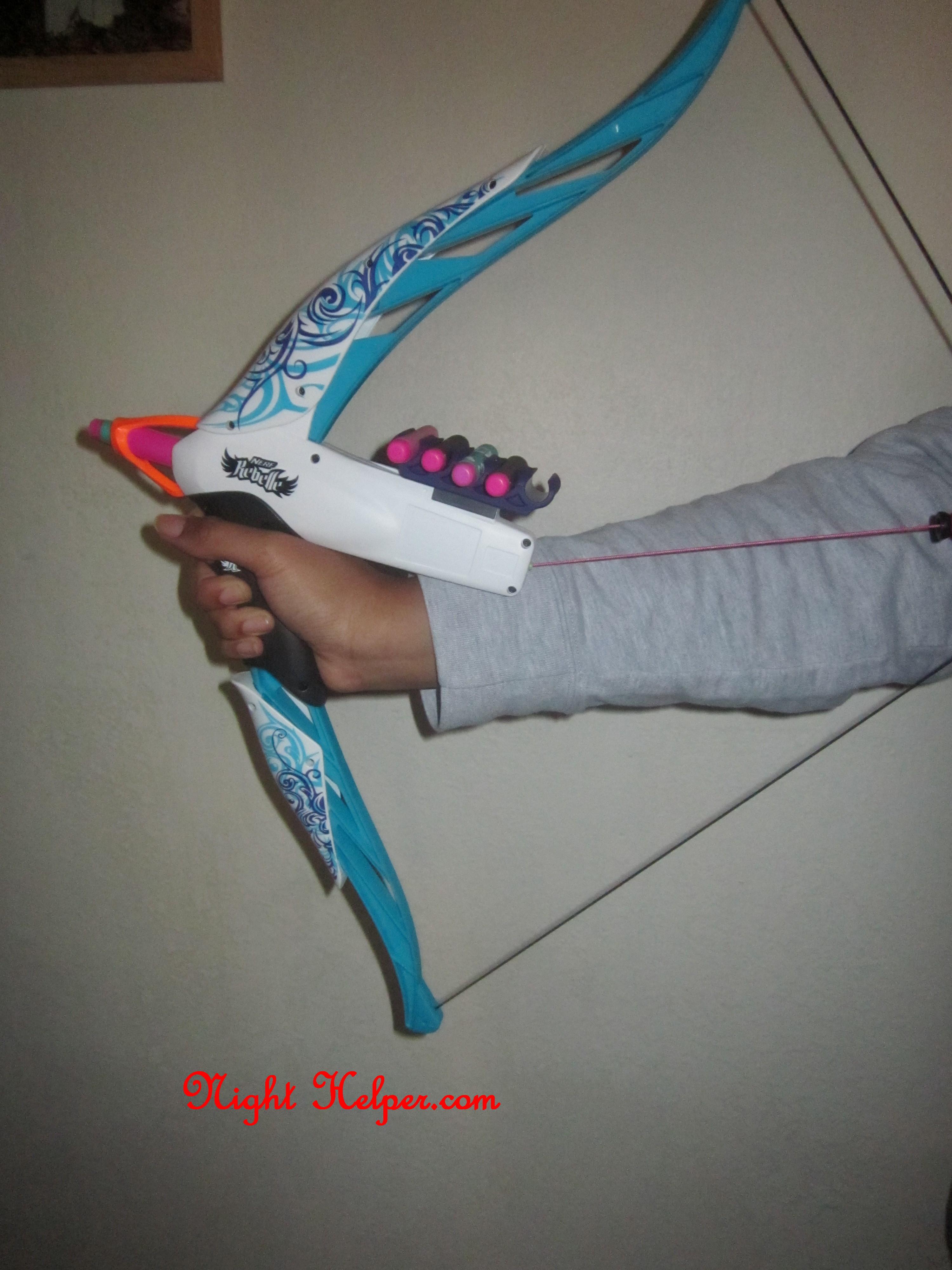 nerf rebelle heartbreaker bow blaster toy set night helper
