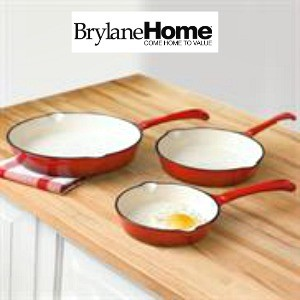 cast iron red brylanehome cookware