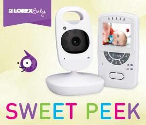 sweet peek lorex baby monitor keeping babies under the watchful eye of moms night helper. Black Bedroom Furniture Sets. Home Design Ideas