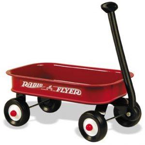 red radio flyer wagon