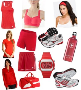 Red-Workout-Clothing-Gear