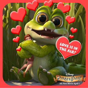 Happy Valentine's Day from Rosetta and Crocky!