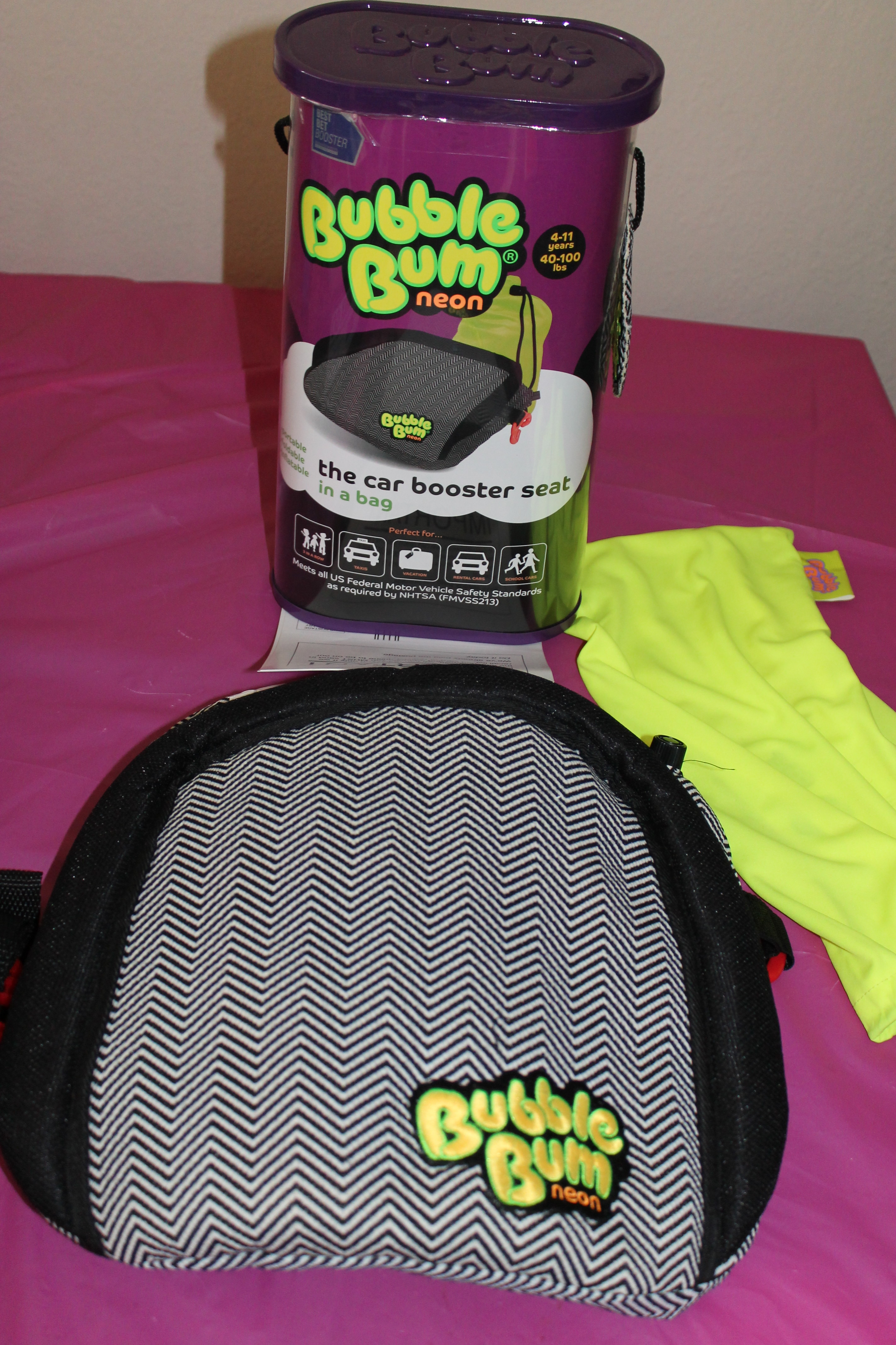 BubbleBum Inflatable Booster Seat review/giveaway