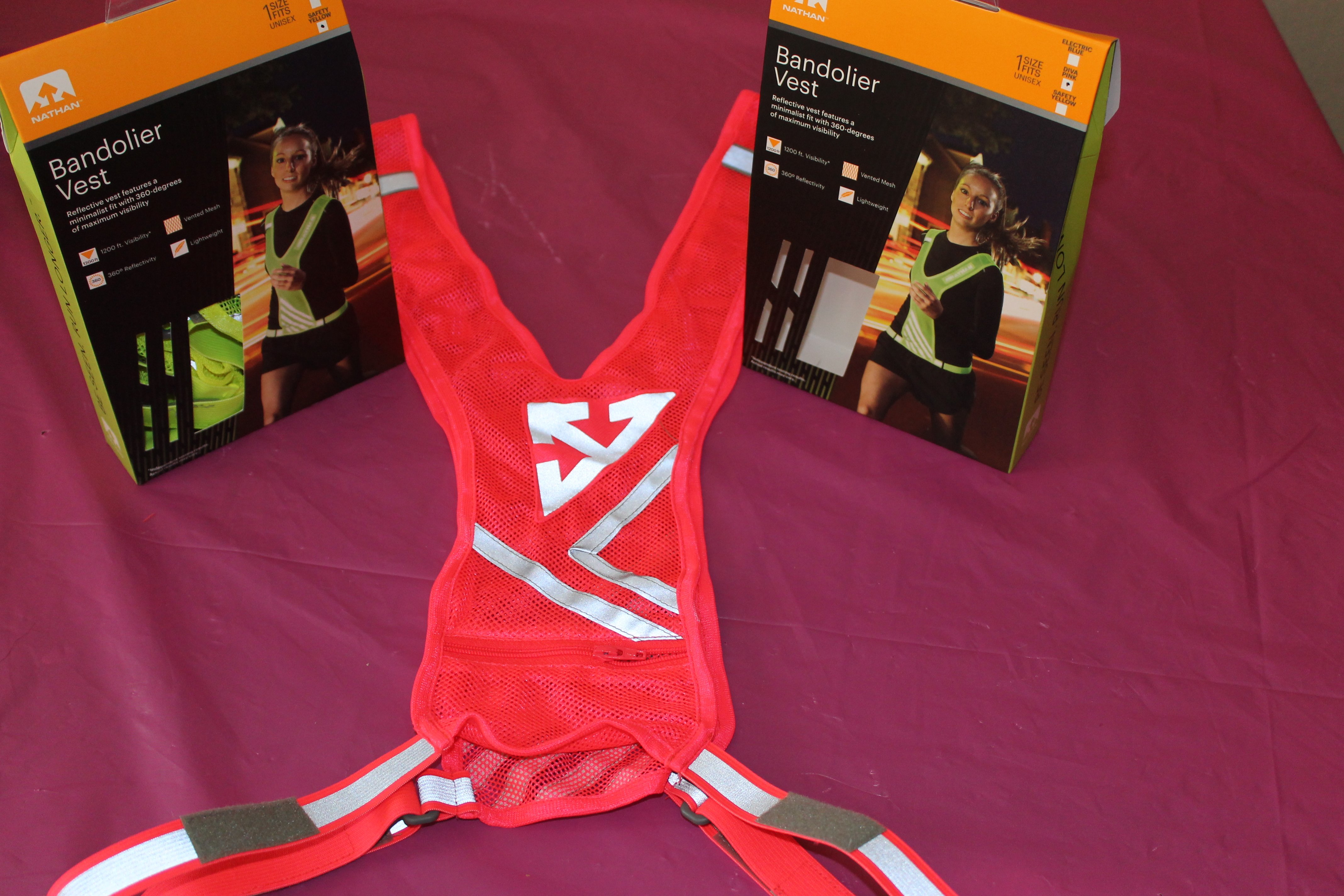 Nathan Bandolier Reflective Vest, don't leave home without it!