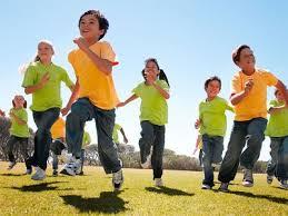 kids exercsing