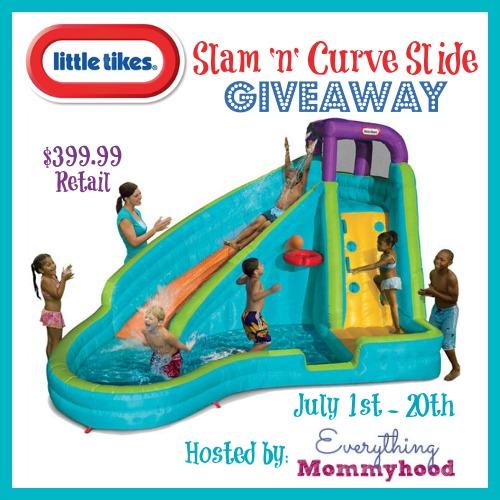 Little Tikes Slam 'n' Curve Water Slide Giveaway!!!