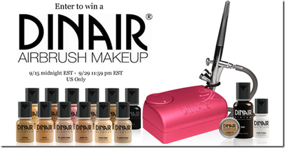 Dinair Airbrush Makeup giveaway! USA only ends 9/29