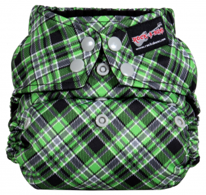 Punk Plaid Green Snap