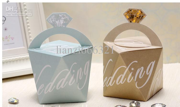 2 Colour Box Wedding Candy Gift Bags