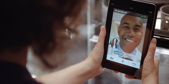 [Image 2] Doctor Video Visit Tablet