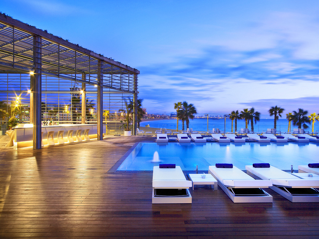A stunning getaway to barcelona night helper for Hotel barcelona w