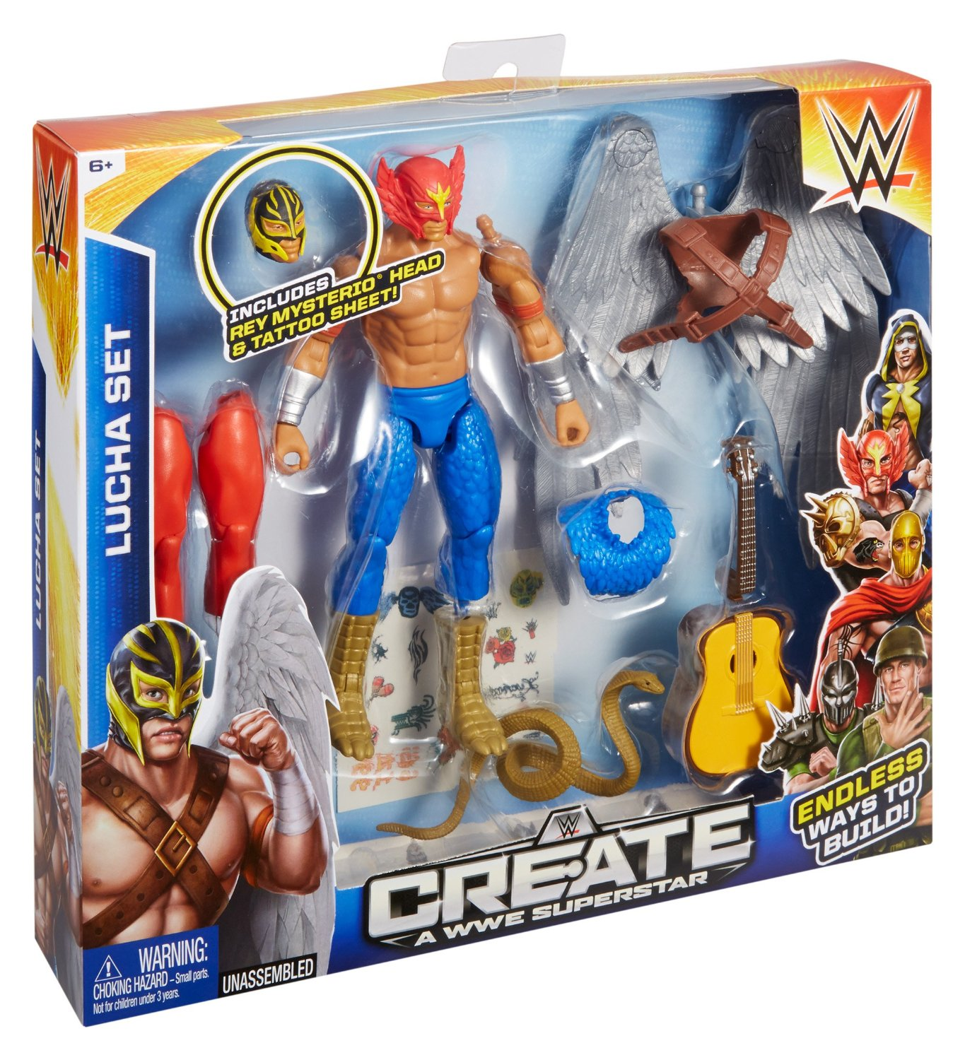 That's right, now your kids can build their own WWE wrestler as they wish since this set includes many mix and match parts. The set has many parts like body ...