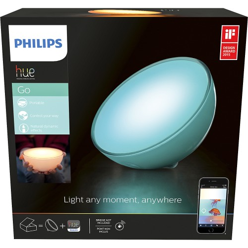 i 39 ve connected my home philips hue a19 starter kit and hue go personal wire free smart lights. Black Bedroom Furniture Sets. Home Design Ideas