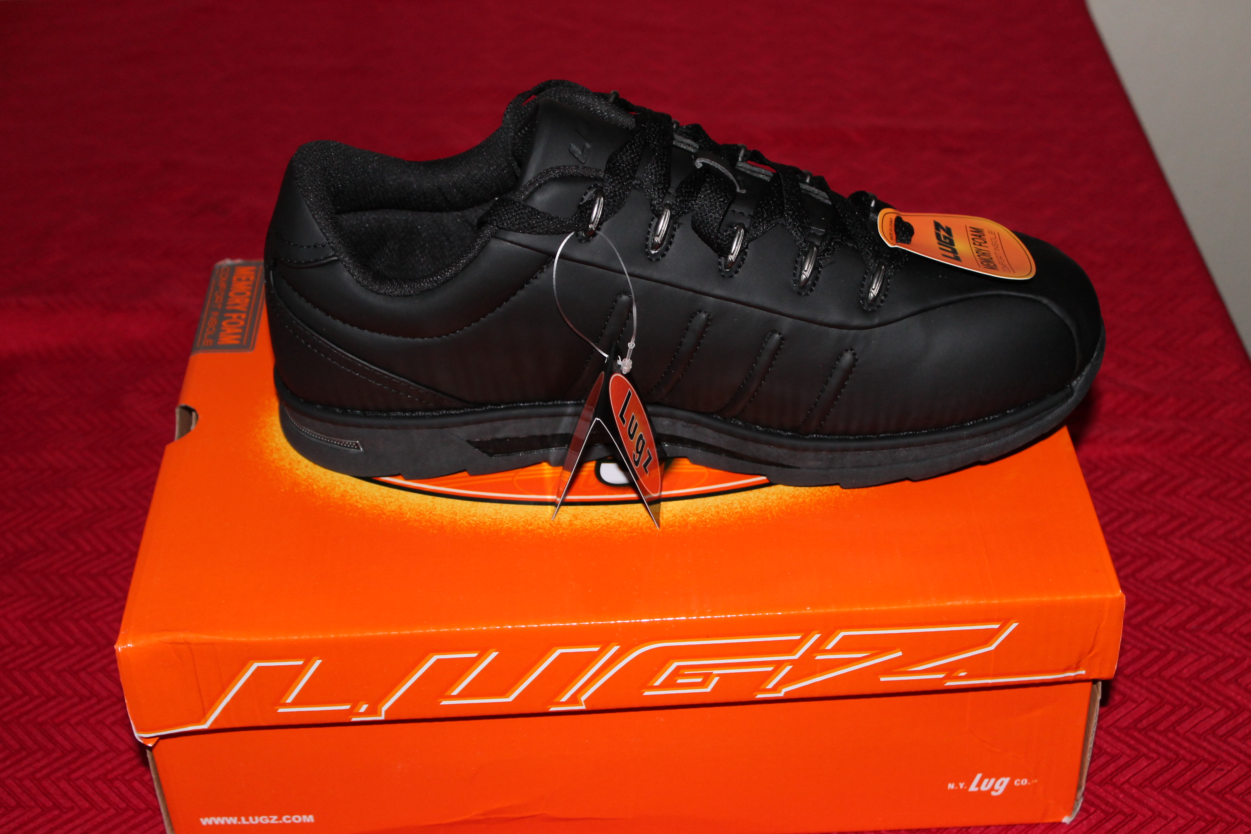 Lugz Black Changeovers, made just for him!!