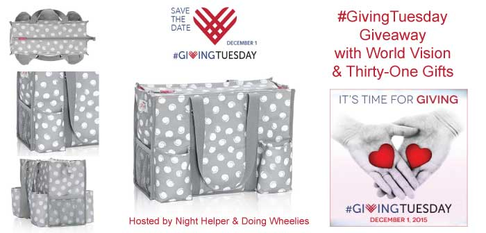 #GivingTuesday Thirty-One Tote Giveaway