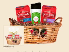 Community Coffee gift basket