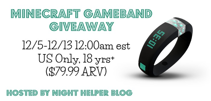 minecraft gameband giveaway