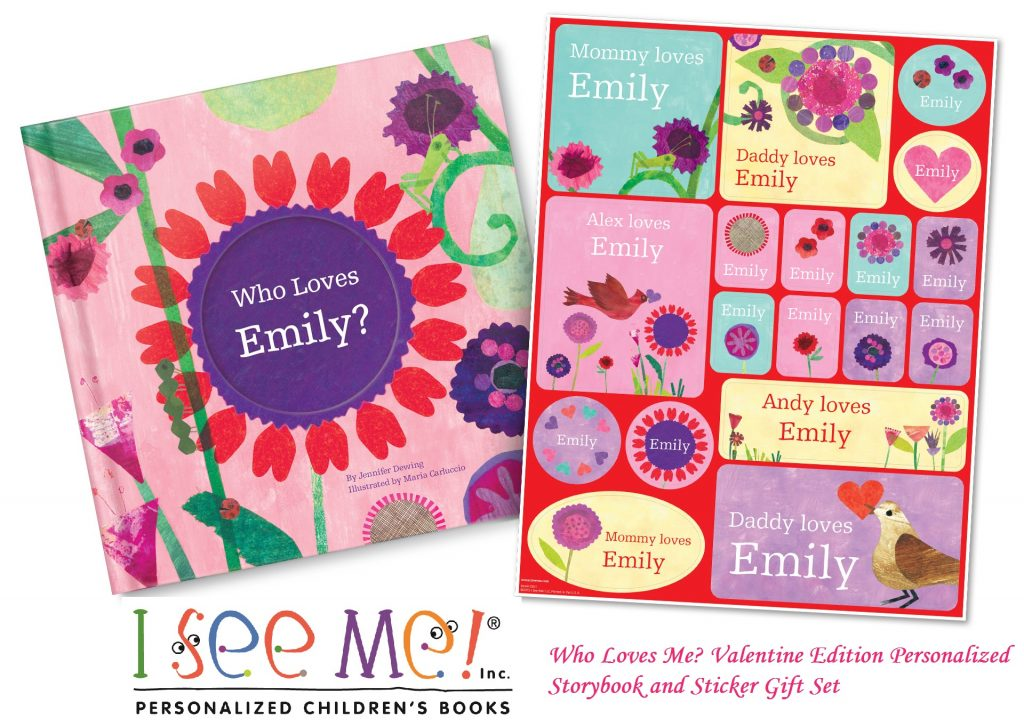 Valentine S Day Toy Prizes : I see me valentines prize pack personalized book and