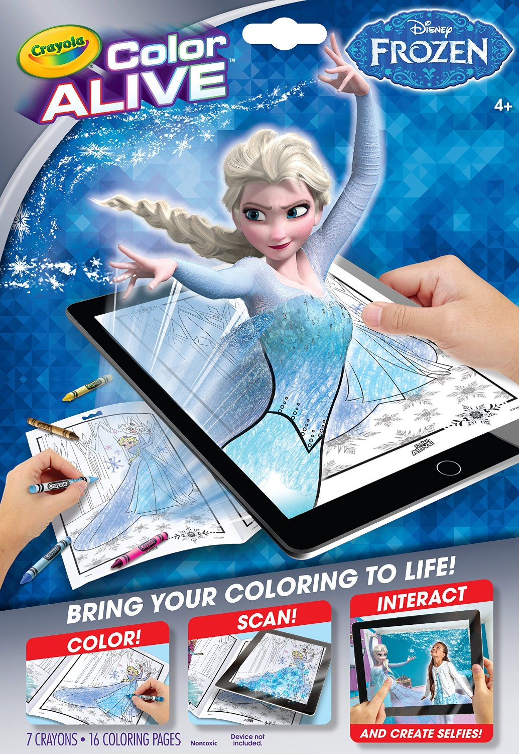 New Crayola S Color Alive Frozen And Star Wars Virtual Design Pro Just In Time For Easter Night Helper