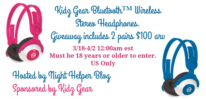 kidz gear headphones giveaway