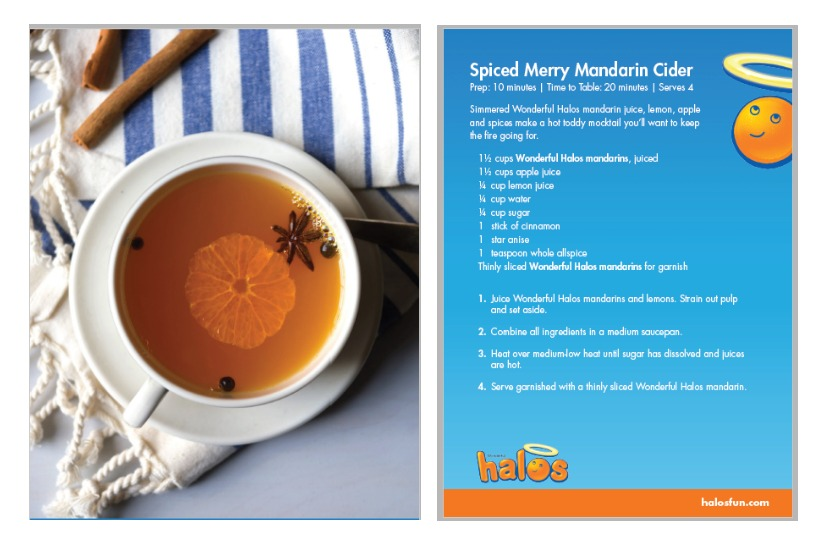 spiced mandarin-halo recipe