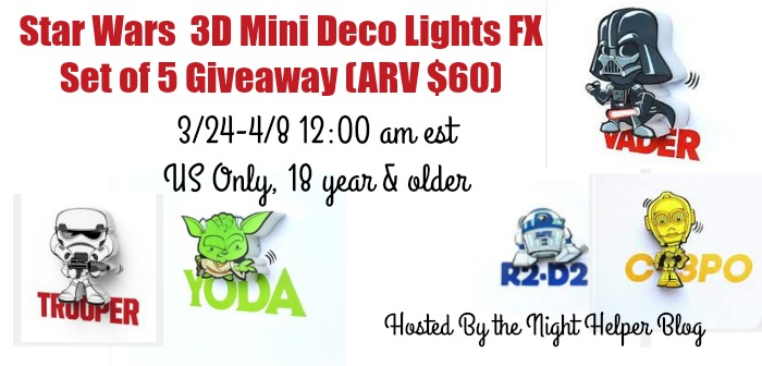 star wars 3D Mini Deco Light Giveaway