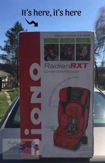 diono car seat in box