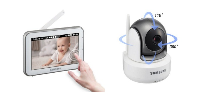 feel safe with the samsung brightview hd baby video monitor system night helper. Black Bedroom Furniture Sets. Home Design Ideas