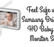 samsung bright view hd baby video monitor