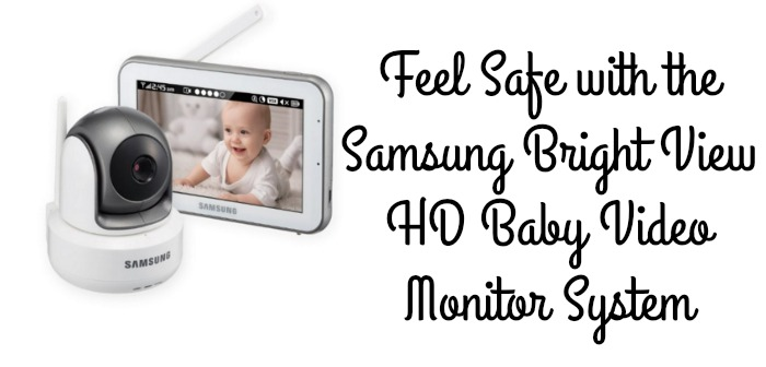 Feel Safe with the Samsung BrightView HD Baby Video Monitor System