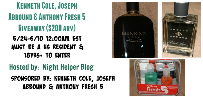 kenneth cole joseph abbound anthony fresh Men's 5 Skin Care/Fragrance Set Giveaway