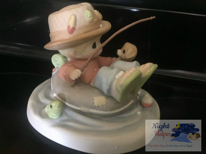 precious moments father's day fishing figurine