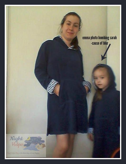 sarah and emma photo bombed