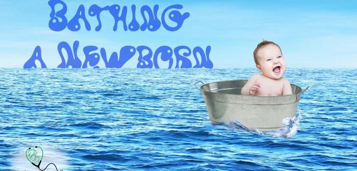 Bathing-a-Newborn