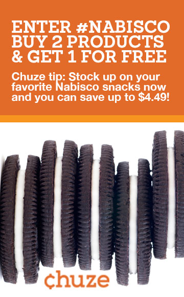 Chuze Oreo Coupon
