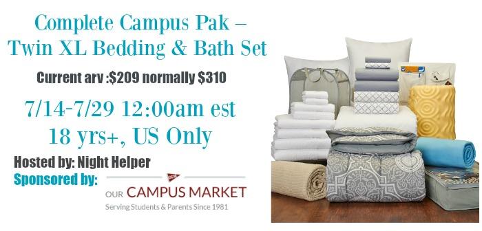 Complete Campus Pak Twin Xl Bedding Amp Bath Set Giveaway