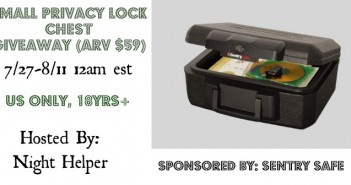 Sentry Safe Small Privacy Lock Chest Giveaway (arv $59)
