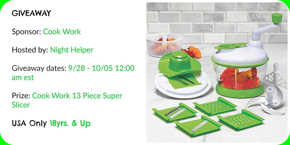 Art & Cook  13 Piece Super Slicer Giveaway.