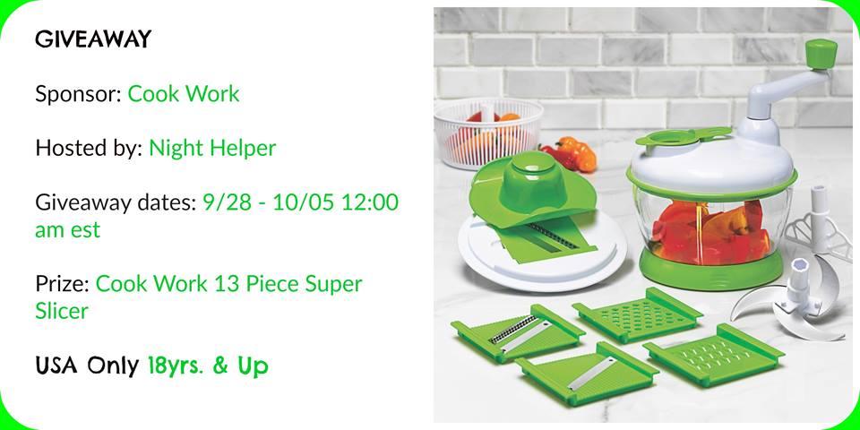 Art & Cook 13 Piece Super Slicer Giveaway.