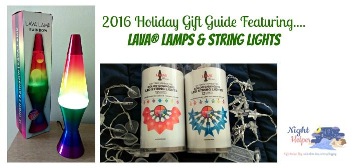 2016 Holiday Gift Guide Feature Lava Lamps & String Lights - Night Helper