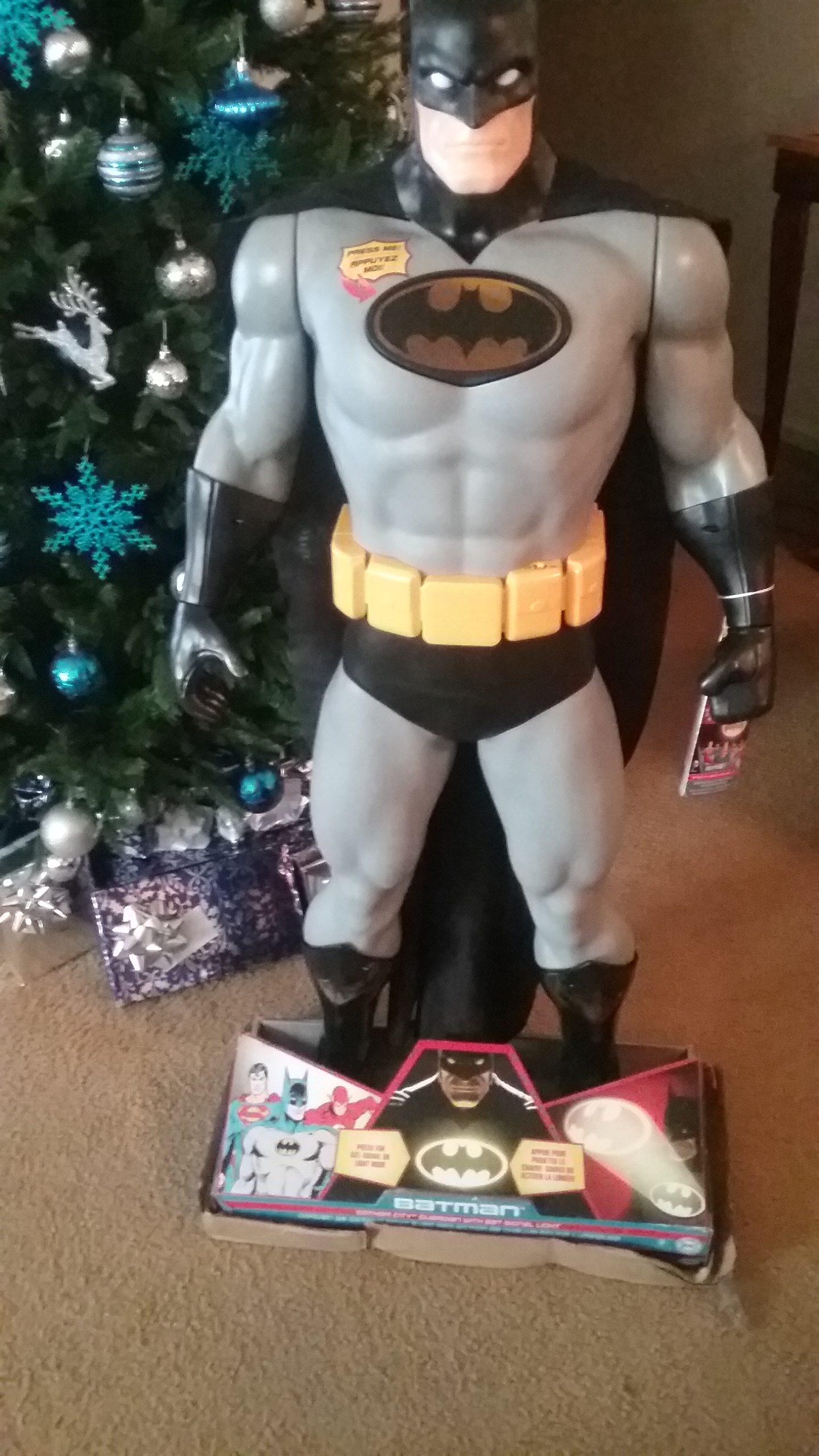 "2016 Holiday Guide Featuring Big-Figs Colossal DC Universe 48.5"" Gotham Guardian with Bat Signal Light From JAKKS Pacific Toys!"