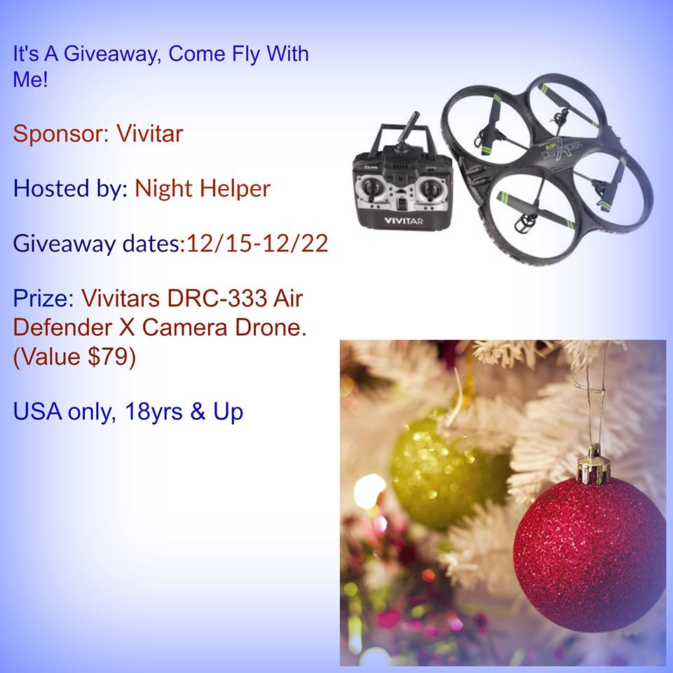 It's A Vivitars DRC-333 Air Defender X Camera Drone Giveaway!
