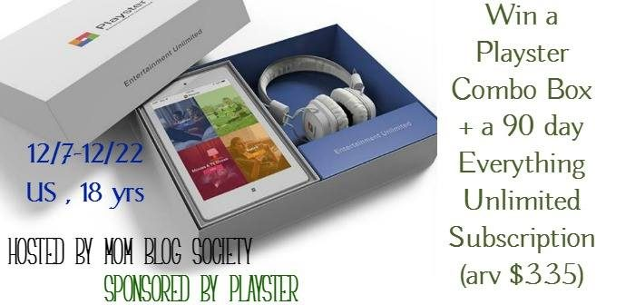 Welcome to the Playster Combo Box + a 90 day Everything Unlimited Subscription Giveaway!!