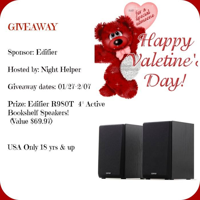 "It's A Edifier R980T 4"" Active Bookshelf Speakers Giveaway!"