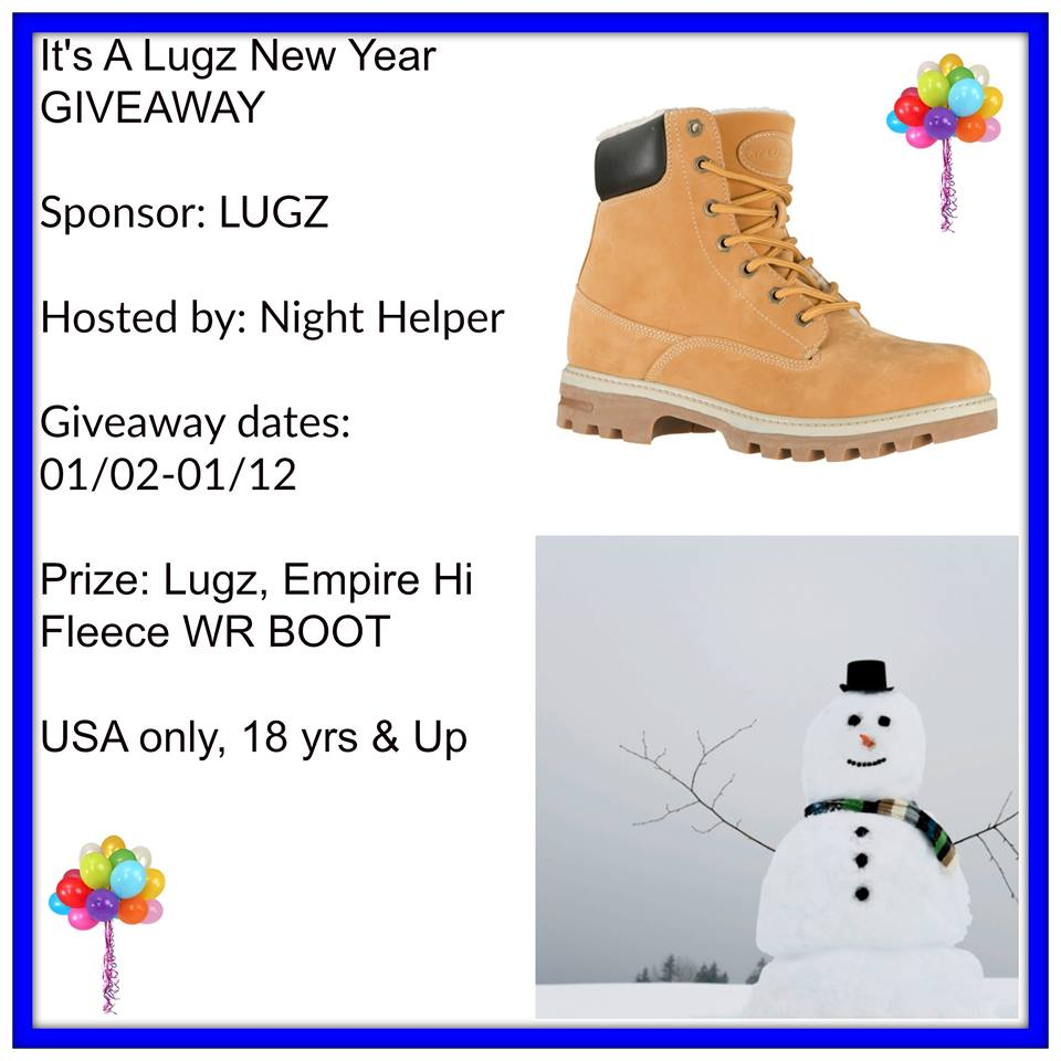"""Welcome to """"theLugz, Empire Hi Fleece WR Boot Giveaway""""!"""