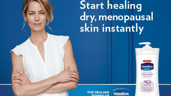 Do You Have Dry Menopausal Skin? Try Out The Vaseline Mature Lotion. #DrySkinHealed #ad