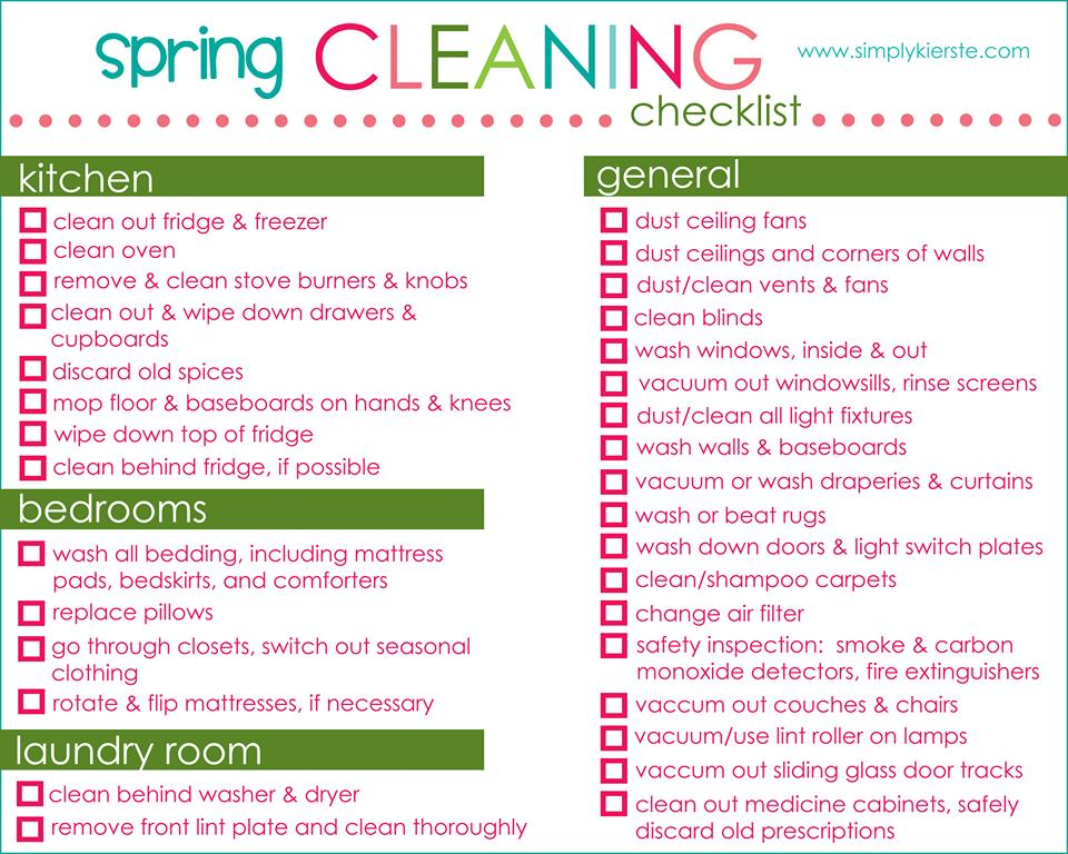 Preparing My Spring Cleaning Checklist For Cleanify  Mom Blog
