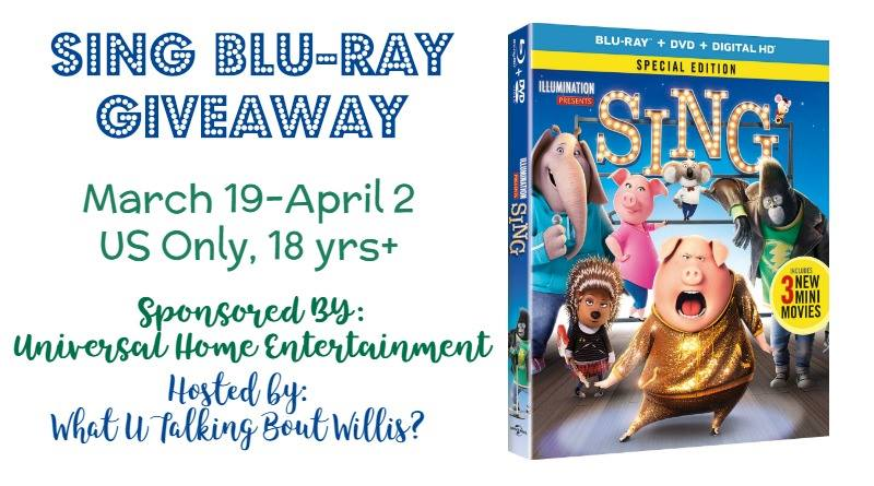 Enter To Win A Blu-ray Copy Of SING! #giveaway