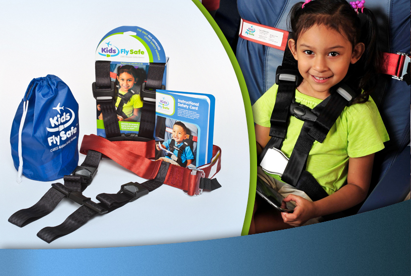 Kids Fly Safe CARES Airplane Safety Harness!