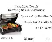 Hamilton Beach Searing Grill  Giveaway! #Grillit